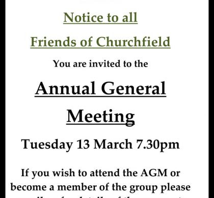 Friends of Churchfield – Annual General Meeting 2018